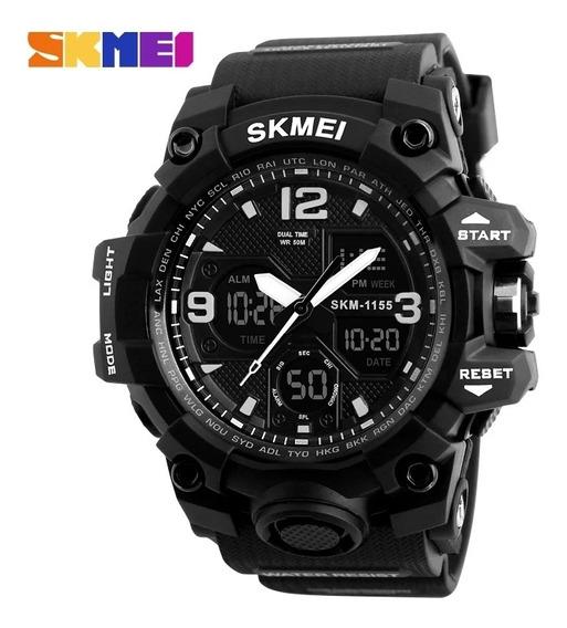 Relógio Skmei Original Preto Modelo 1155 Prova D