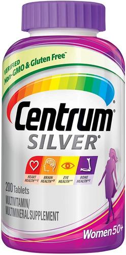 200 Tab Centrum Silver Women Mujeres 50+ Años Tarro Gigante