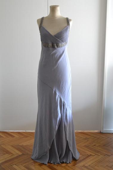 Vestido Griego Gris Largo
