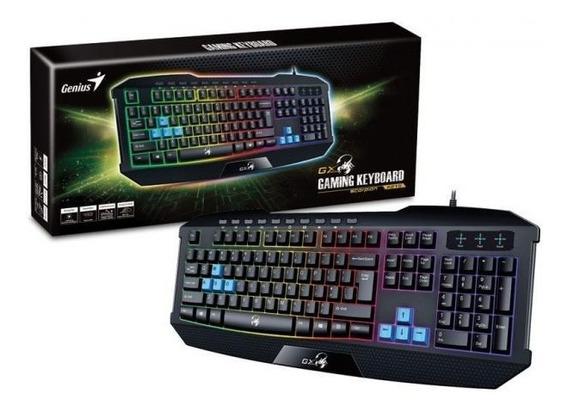 Teclado Gamer Scorpion Keyboard Genius Usb Preto K215