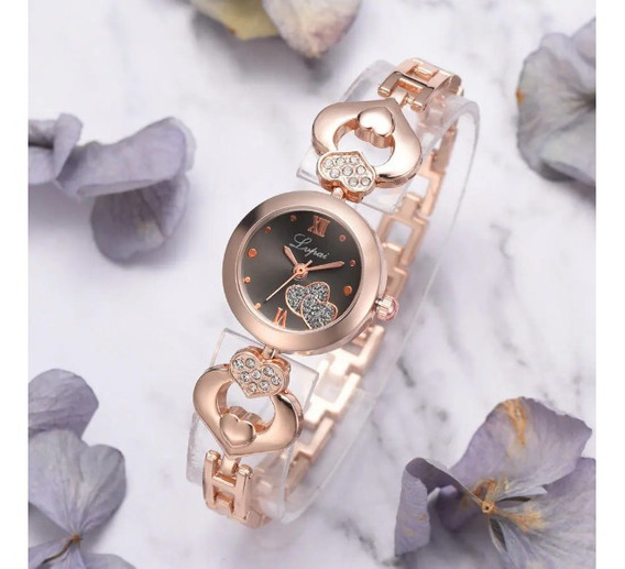 Relógio Lvpai Amor Coração Feminino Estilo Casual