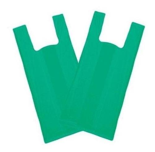 Imagem 1 de 2 de Sacola Plástica Reciclada Reforçada 50x60 Verde - 4 Kg