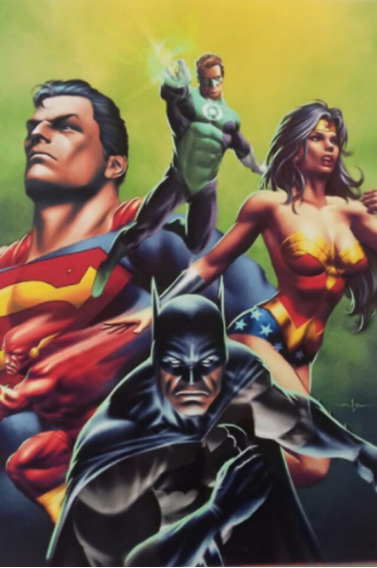 Poster Dc Justice League Batman Superman 30 X 40 Cm.