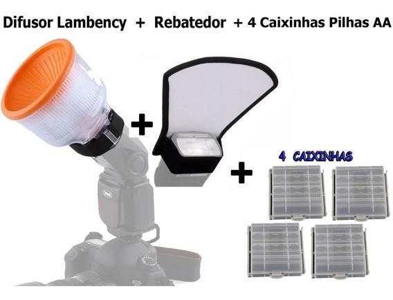 Difusor Lambency + Rebatedor + 4 Case Pilhas Aa