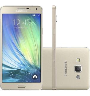 Galaxy A7 Samsung A700fd 16gb Dourado Seminovo Com Garantia
