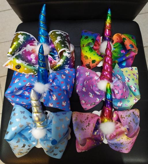 Moños Jojo Siwa Unicornio Butique Jumbo Envio Gratis 6 Pack