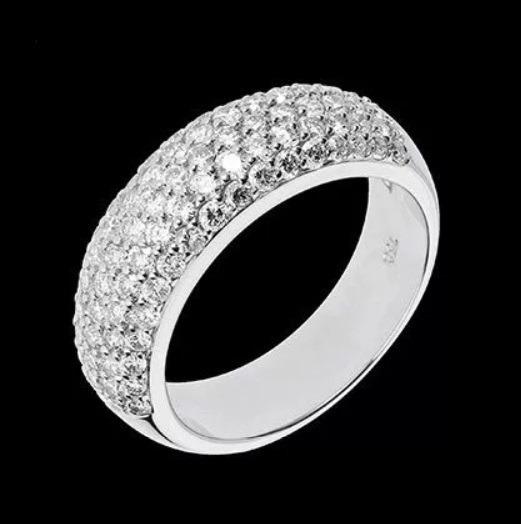 Anel Pavê Com 0,89 Quilate Em Diamantes