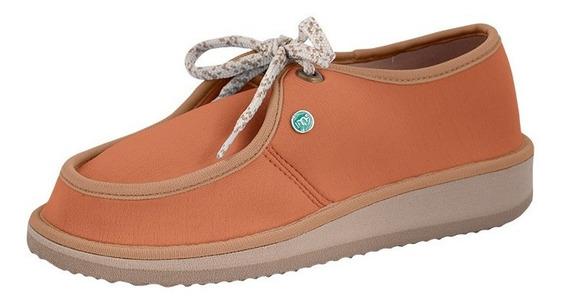 Sapato Casual Para Esporão E Fascite Mundoflex - Caramelo