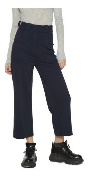 Pantalon Lancel Cropped Rayon Tiro Alto Casual Mujer Complot