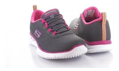 Tenis Para Mujer Sckechers St332-056153 Color Gris/rosa