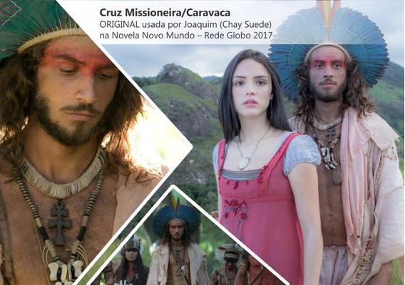 Pingente Original Cruz Caravaca Lorena Novela Novo Mundo