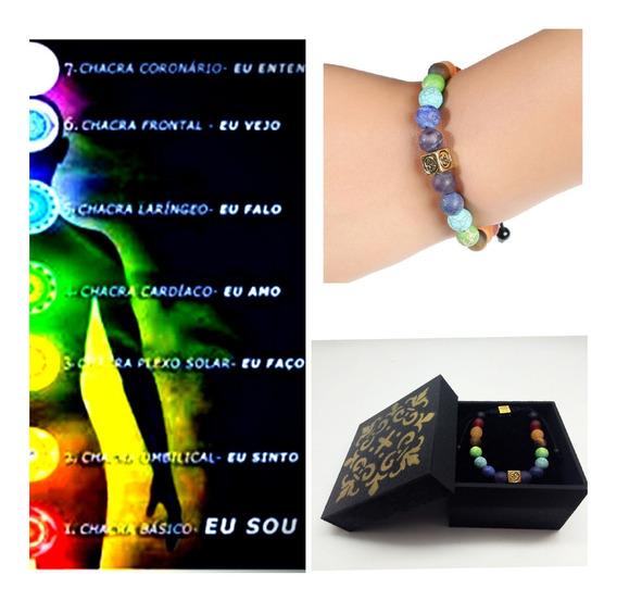 Pulseira Hooponopono,ajustável,pedras Naturais,c/caixa Linda