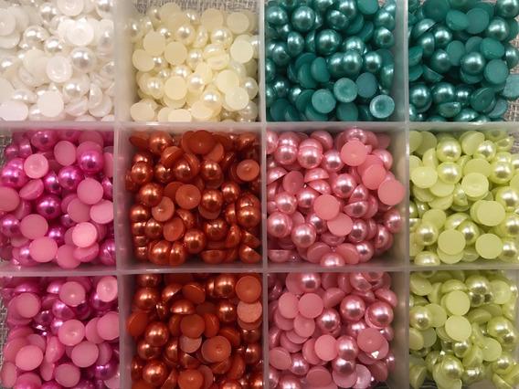 1000 Medias Perlas De Colores. 6, 8 Y 10mm. Elegilas! Oferta