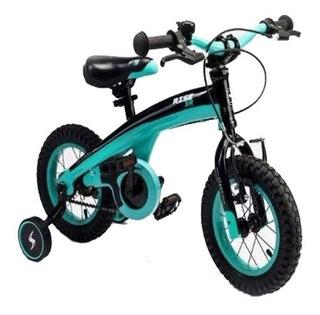 Bicicletas Azul Stark Nene Infantil Rodado 12 Con Rueditas