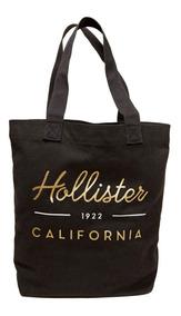 Bolsa Feminina Hollister By Abercrombie Preta Logo Original