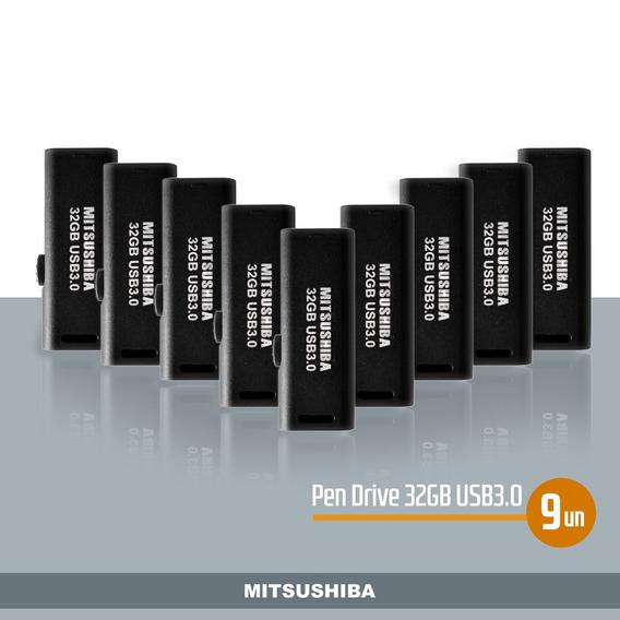 Kit Pen Drive 32gb(usb 3.0) 9pcs Mitsushiba