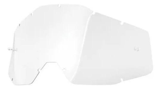 Lente Oculos 100% Race/acuri/strata Transparente-vick