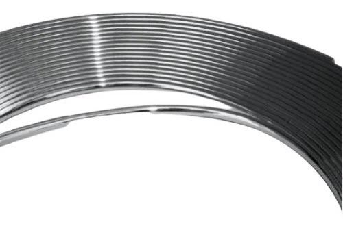 Imagem 1 de 5 de Rolo De Friso Filete Cromado Adesivo 20mm - 5 Metros