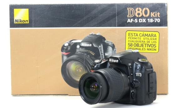 Nikon D80 Com Objetiva 18-55mm Completa !!