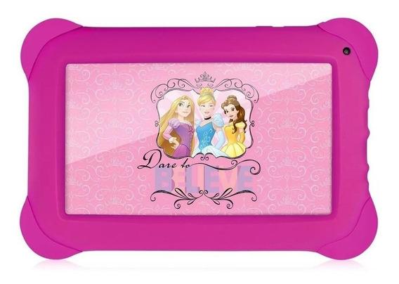 "Tablet Multilaser Disney Princesas NB239 7"" 8GB rosa com memória RAM 512MB"