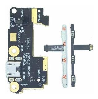 Placa Conector Carga Microfone Zenfone 5 A501 + Botao Power