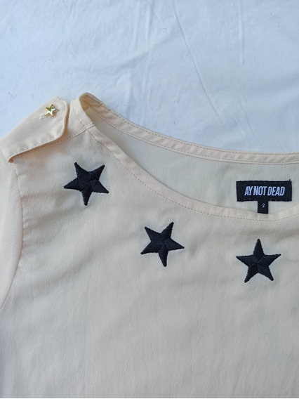 Remera Ay Not Dead Mujer Talle 2