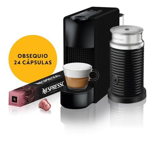 Máquina Nespresso Essenza Mini Negra & Espumador De Leche