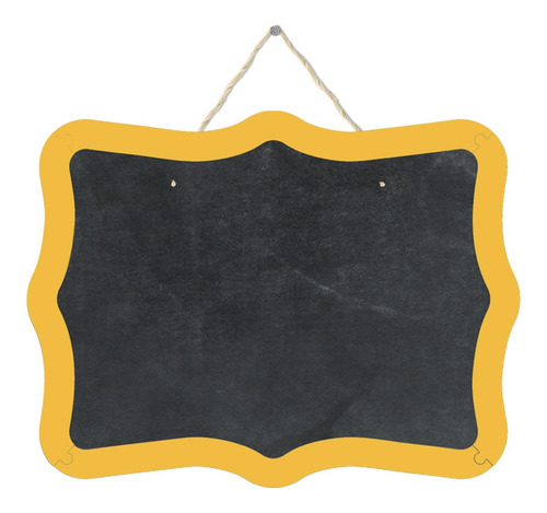 Pizarrón Pizarra Decorativa Cuadro Arabesco Amarillo 38x29cm