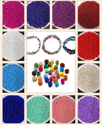 Mostacillas Canutillos De Colores Artesanías Cuentas Enebrar