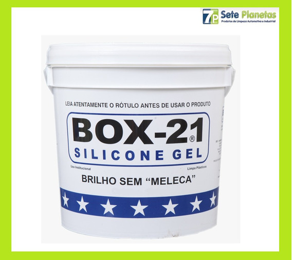 Silicone Gel Automotivo Box 21 3,6kg Renova Revitaliza Plast