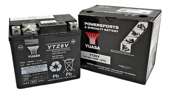 Bateria Yuasa Ytz6v 5ah Titan Fan Bros Xre Cg Factor Crosser