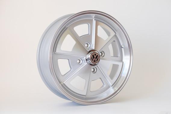 Par Rodas Aro15 4x130 Porsche Fusca Prata Diam +bico R84 15