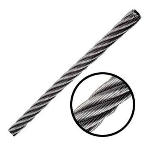 Cable De Acero 7x19  7/32 Pulgadas  Y  75 Metros
