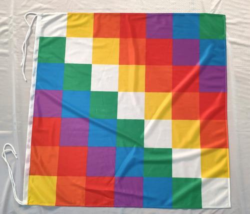 Bandera Pueblos Originarios Wiphala De 90 X 90 Cm