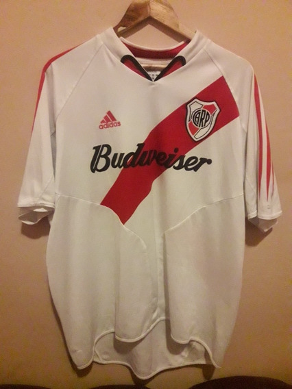 Camiseta River Plate Budweiser 2004 Tela Simple