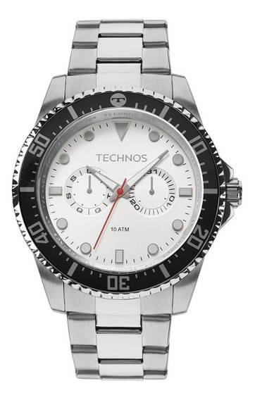 Relógio Technos 6p25bm Skymaster Masculino Prata Analógico
