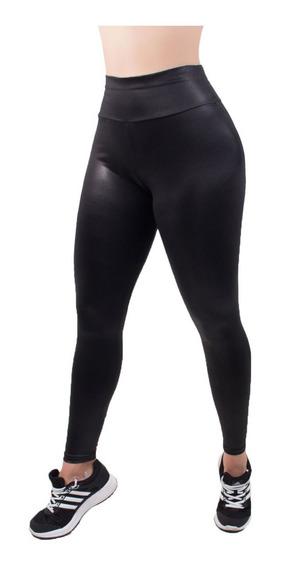Calça Cirre Tipo Couro Cintura Alta Moda Feminina Hot Pants