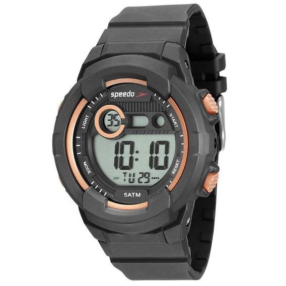 Relógio Speedo Preto Com Dourado Rose Feminino 11001 L0evnp1