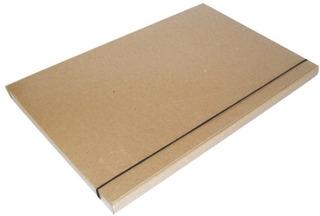 Carpeta Caja Archivo Marron Con Elástico Lomo 2cm Por 2 Unid