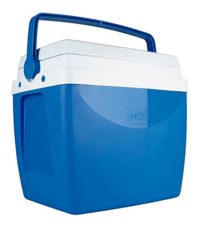 Caixa Termica Cooler Guardar Bebida Azul Vermelho 26 Litros