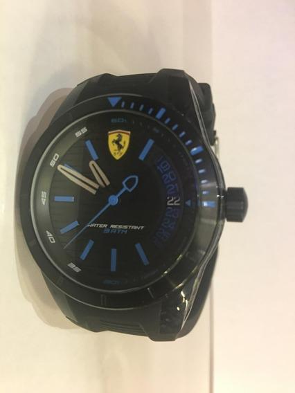 Relógio Scuderia Ferrari Masculino Borracha Preto