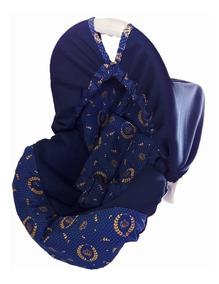 Capa Para Bebê Conforto Multimarcas Acolchoada Príncipe Azul