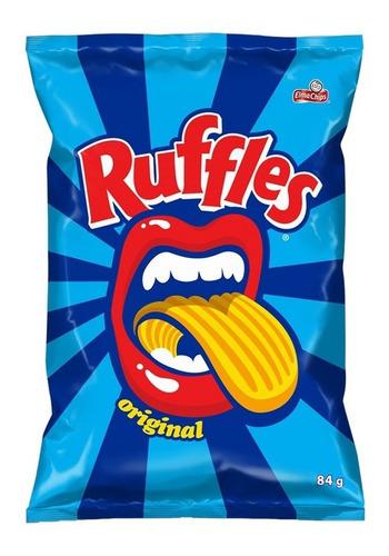Batata Frita Ondulada Original Elma Chips Ruffles Pacote 84g