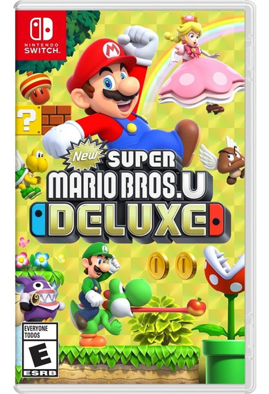 New Super Mario Bros U Deluxe Switch Mídia Física Lacrado