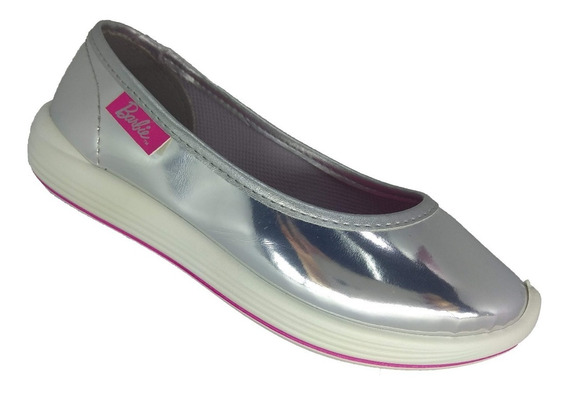 Sapatilha Feminina Infantil Barbie Slipper Metal 21698