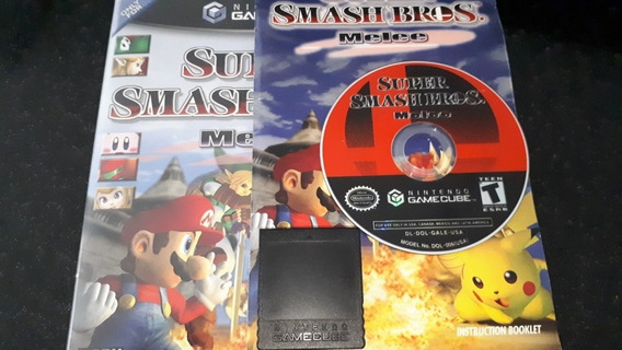 Gamecube: Super Smash Bros. Completo Com Memory Card.