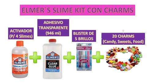 Nuevo Kit Para Slime Elmers Original Con Charms Novedad 2020