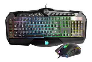 Combo Teclado Mouse Thermaltake Tt Challenger Prime Rgb Usb