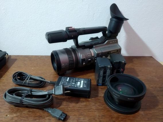 Filmadora Sony Dcr-vx2100 3ccd + Grande Angular Vcl-hg0758