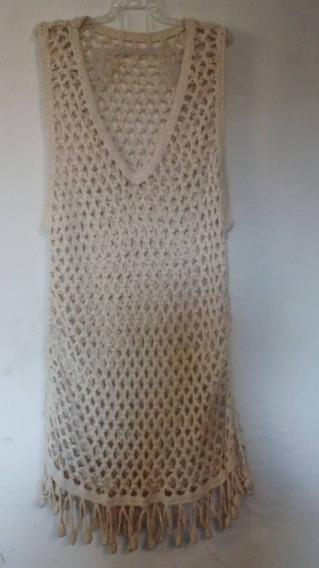 Camisa Sobretodo Vestido Playero Sweater Beis Dama Sueter